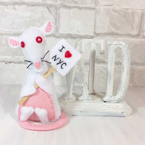 Felt rat I Love NYC gift