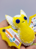 yellow felt bat ornament