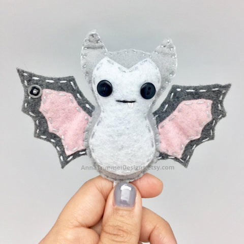 white felt bat ornament