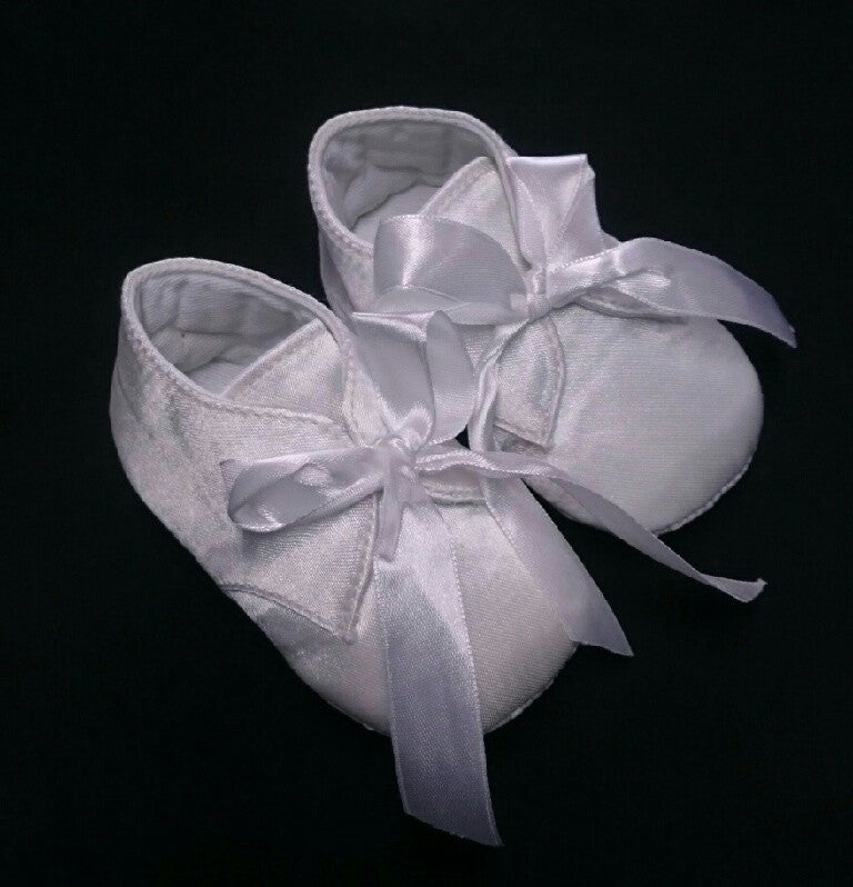 R Divine Christening Shoe White Satin Boot