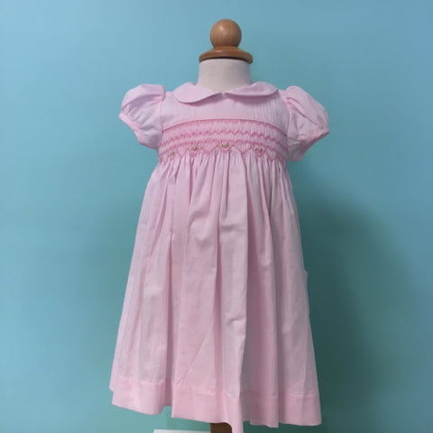 Meleze pink hand smocked dress