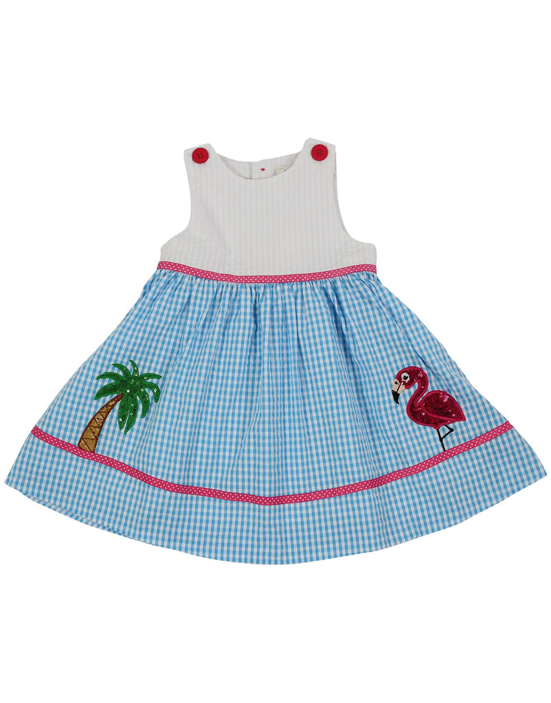 Korango Flamingo  Sequence Dress