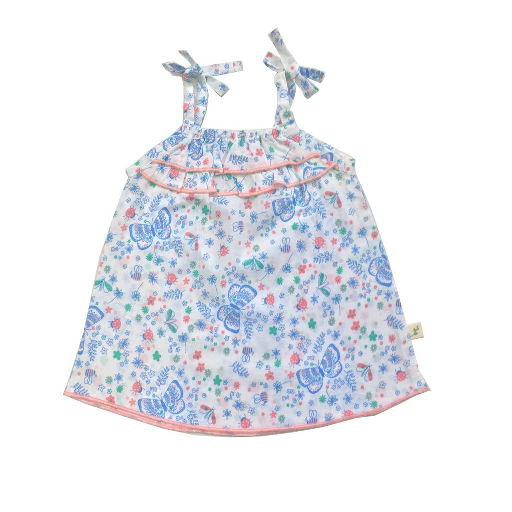 Tiny Twig Woven Frill Top Marina Butterfly TTS17-G10