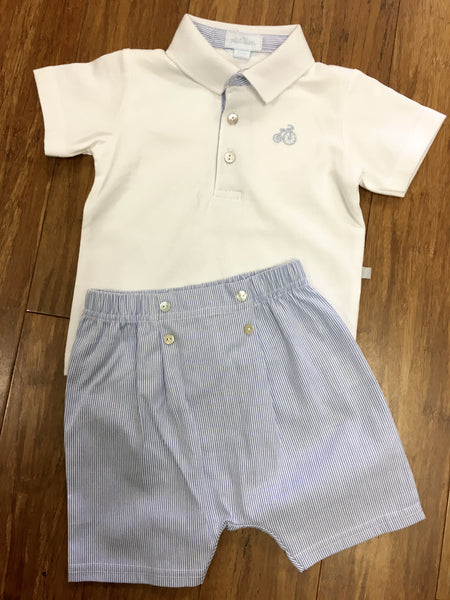 Petit Cheri Pale Blue Stripe Short