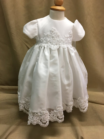 R Divine Christening Gown Dress  CANDICE AX  White Size 0