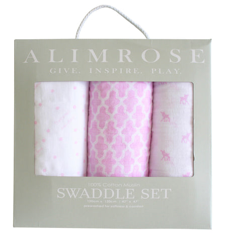 Alimrose Cotton Muslin Swaddle Set