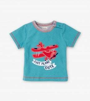 Hatley Baby Graphic Tee Just Plane Cute