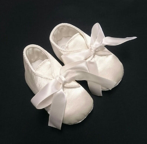 R Divine Christening Shoe Ivory Satin Boot