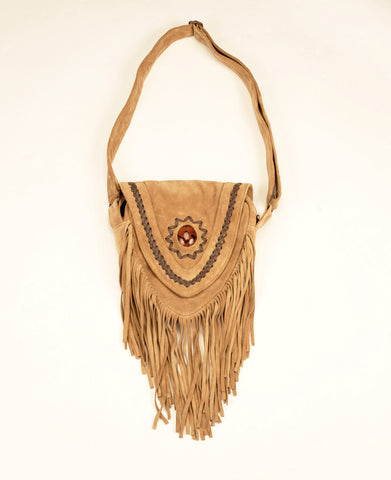 adf3ce3e0b05 Leather Suede Beige Tassle Bag. Leather Suede Beige Tassle Bag. Cora  Leather Bags