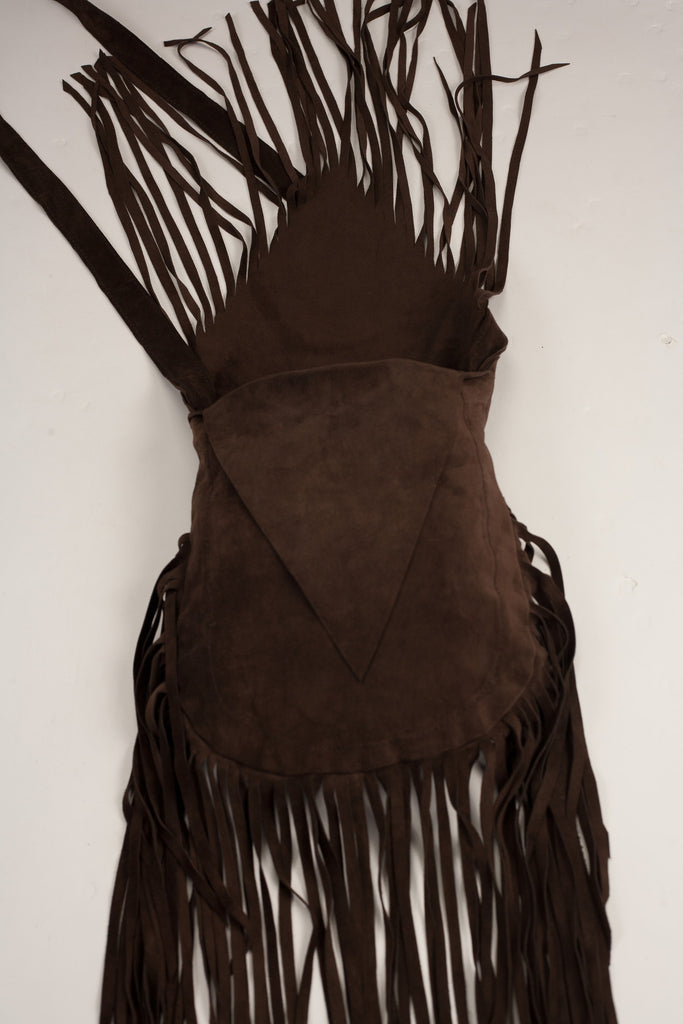 b5dd7dccc038 Handmade Brown Suede tassle festival boho bag – Cora Leather Bags