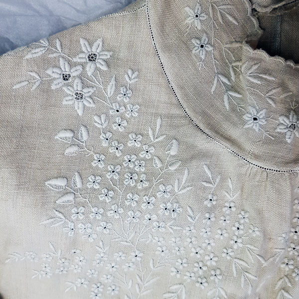An embroidered blouse in Langdale Linen from the time of Beatrix Potter from the Armitt Museum