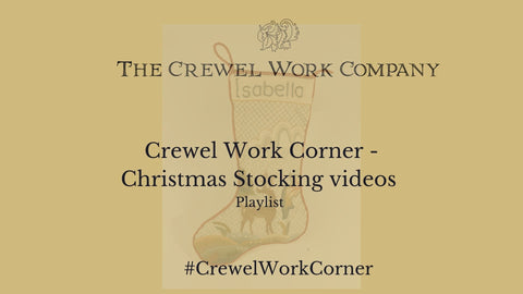 Crewel Work Corner Christmas Stocking