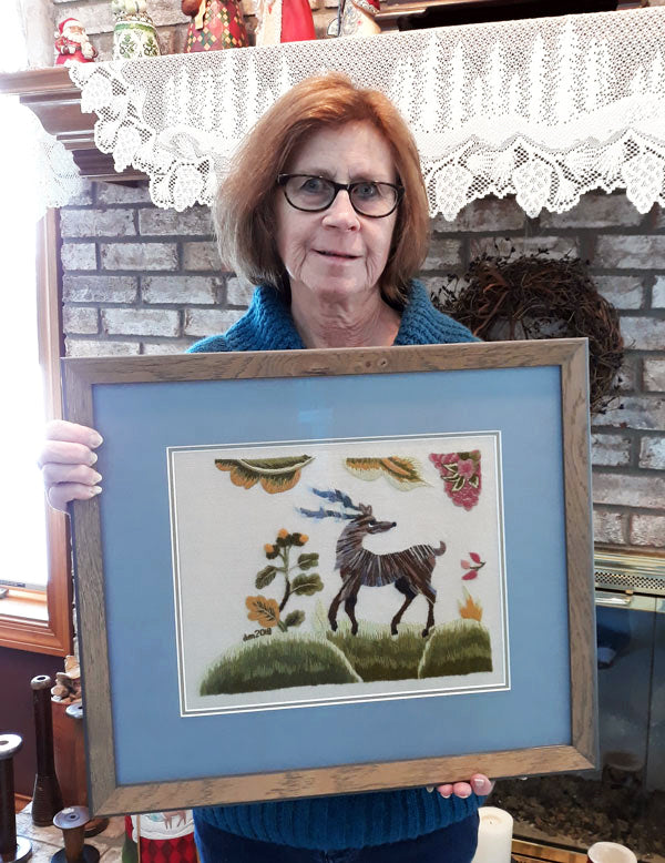 Denise Mattox and her Jacobean Stag