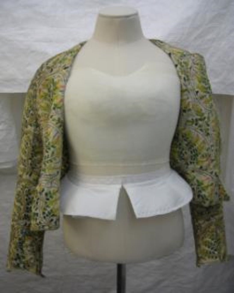 Elizabethan Bodice - on new mount before fastening