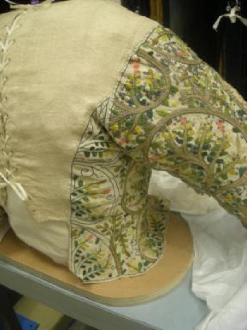 The Elizabethan Bodice before remounting