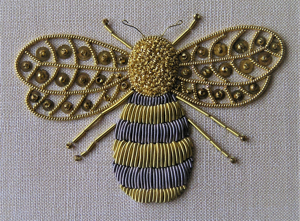 Goldwork Bee by Mandy Ewing
