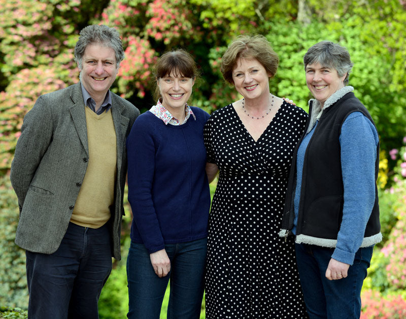 Phillipa Turnbull at Muncaster Castle with Peter and Iona frost-Pennington and Jacqui Hyman