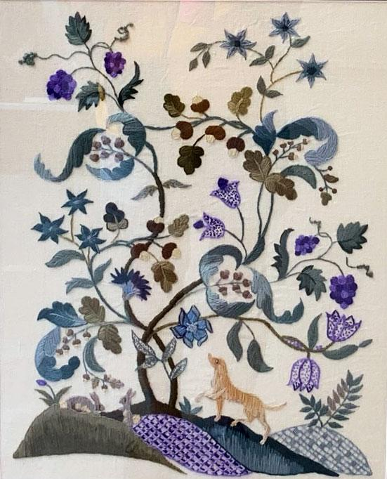 Marcia Slinki's Tree of Life design from The Crewel Work Company