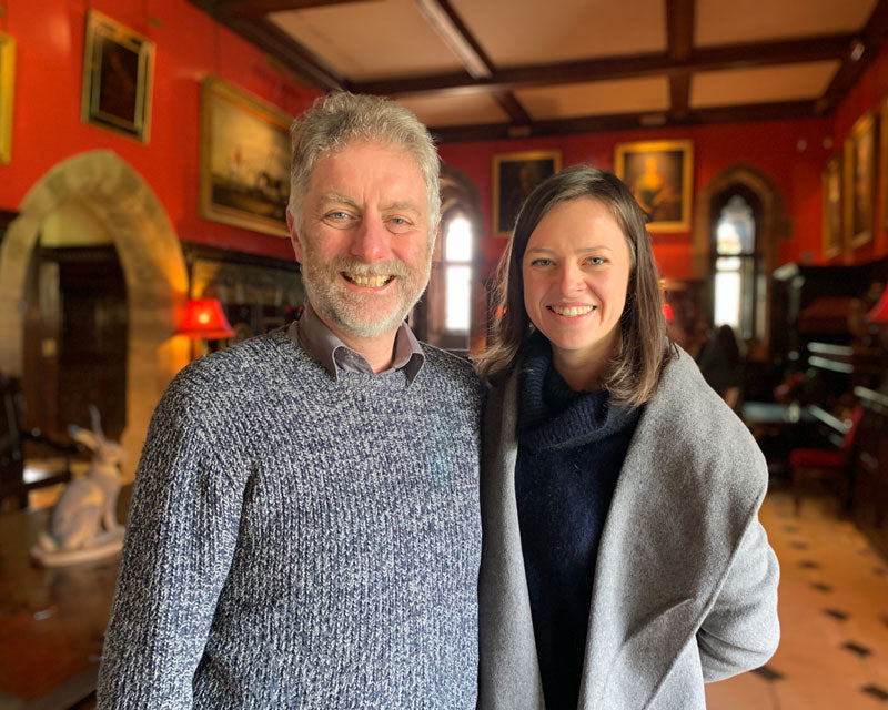 Peter Frost-Pennington and Laura Turnbull at Muncaster Castle