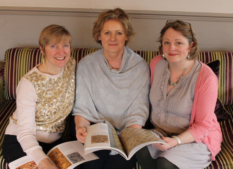 Phillipa Turnbull with Nicola Jarvis and Jenny Adin-Christie at the Spring Residential in 2019