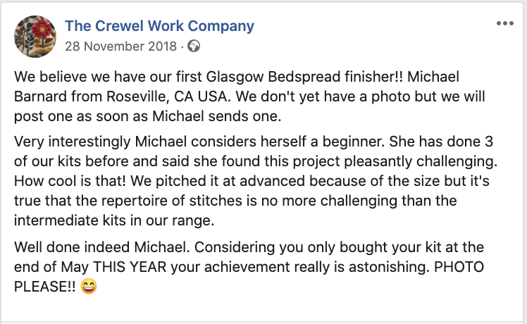 Michael Barnard and the Glasgow Bedspread