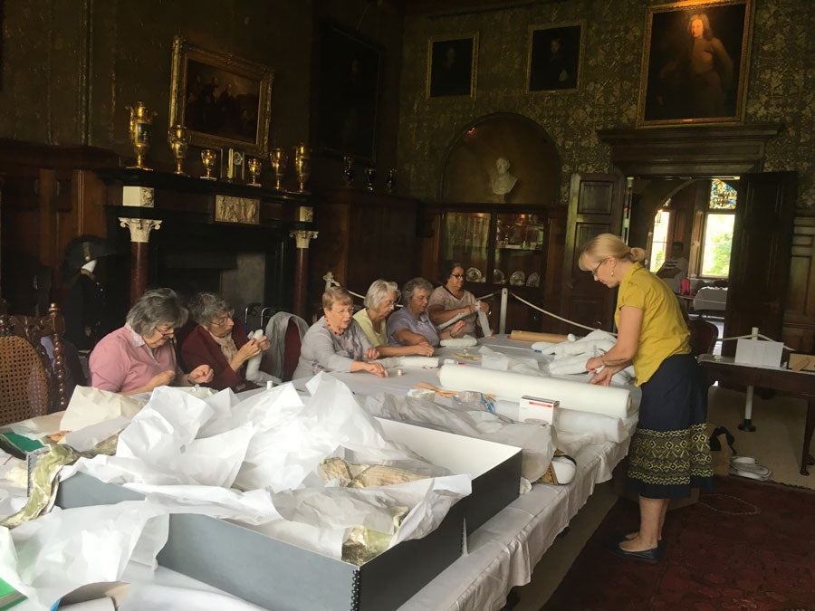 Volunteers at Muncaster Castle