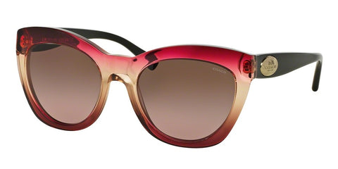 Coach 8151 533314-Women Cat Eye Sunglass Black Cherry Tan Grad/Black-Brown Rose Gradient-GL