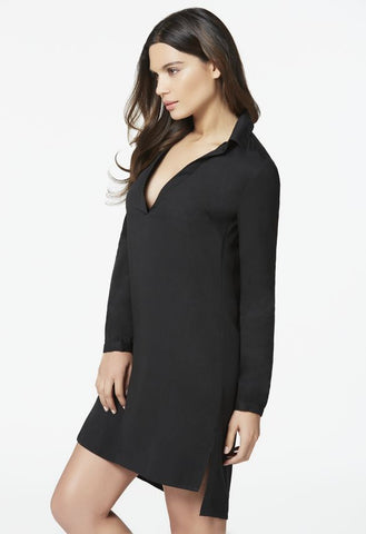 Justfab Women Easy Shirt Dress in Black-SHF