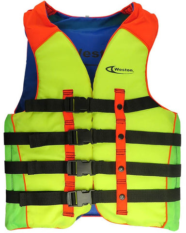 Weston CXL Swim Life Jacket Large Size Orange/Yellow