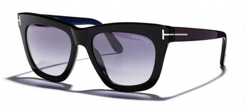 Tom Ford Celina TF361 01A-Women  Square Sunglass Black Violet/ Blue Gradient -GL
