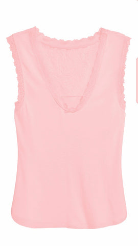 H&M 1636/1-Top With Lace Details-Blush-SHF