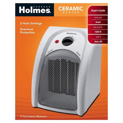 Holmes Ceramic Personal Heater 1500 Watts Overheat Protection