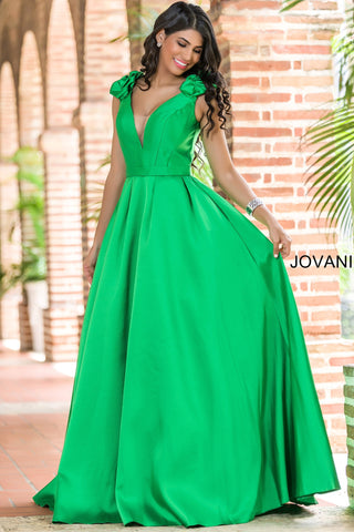 Jovani 88999A Women Long Green Dress-GL