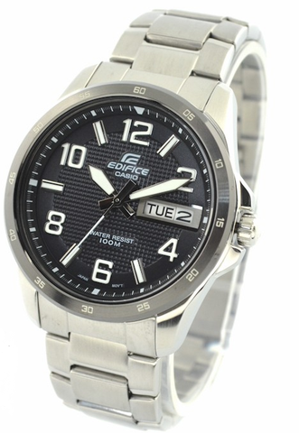 Edifice EF-132 Casio-Men Anolog White Dial-Silver Stainless Watch-GL