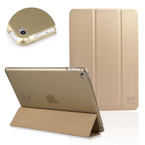 iPad Air 2 Case Ultra Slim Lightweight Smart Shell Stand Cover Case Champagne Gold