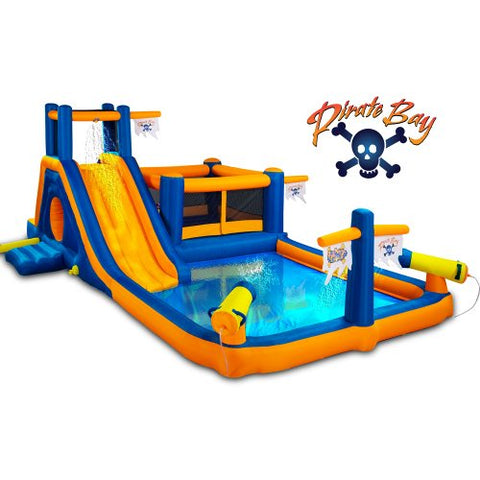 Blast Zone Pirate Bay 12299634 Inflatable Combo Water Park And Bounce 40.55x16.14x16.14 Multi Colour