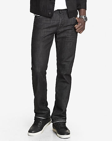 Express Men 4710 Slim Fit Rocco Black Straight Leg Jeans-SHG