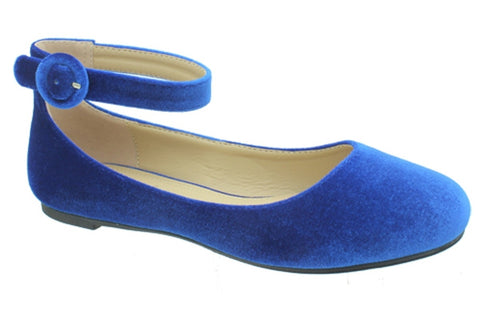 Pierre Dumas Brita-6 Blue Ankle Strap Pumps-SHG