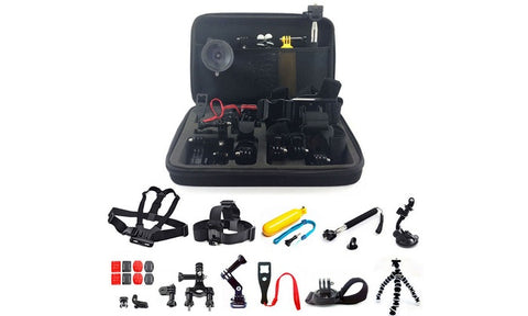 GoPro Hero Mount Accessory Kit for 1/2/3/3+/4/5 Camera 45 Piece