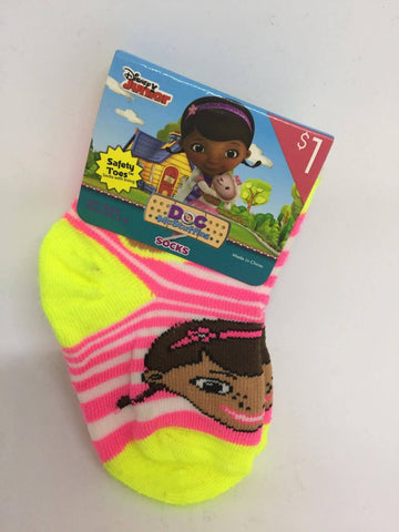 Disney Doc McStuffins Safety Toes Socks With Lining, Shoe Size 1-5