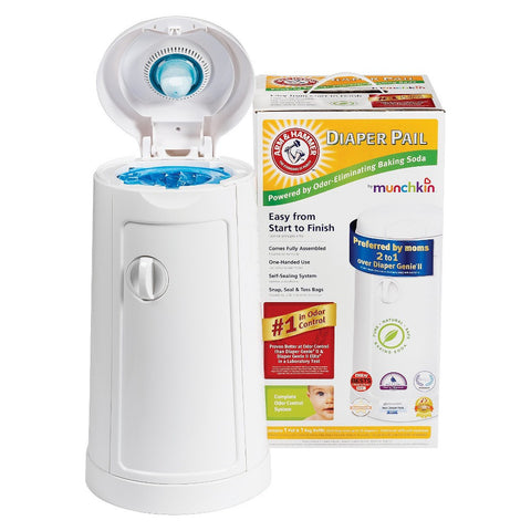 Arm & Hammer Diaper Pail with Refill Bag and Baking Soda