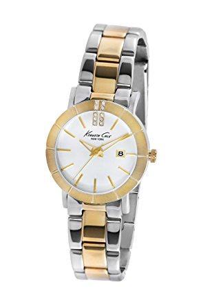 Kenneth Cole KC4879-Women Classic Analog Grey Dial Watch Gold/Silver-GL