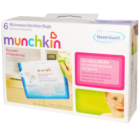Munchkin Steam Guard Microwave Sterilizer Bags - 6 Pack