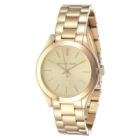 Michael Kors MK3512 Women Gold Dial Stainless Steel Band Watch-GL