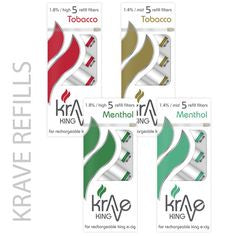 KRAVE KING - 5 Refill Filters for Rechargeable Electronic Cigarette