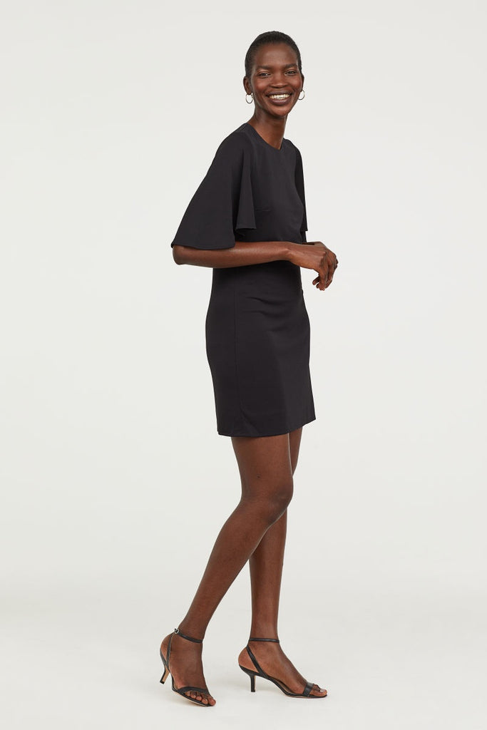 ecf307942372 H&M 1926/1 Women Butterfly-Sleeved Dress Black-SHW – GIZMOS AND GADGETS