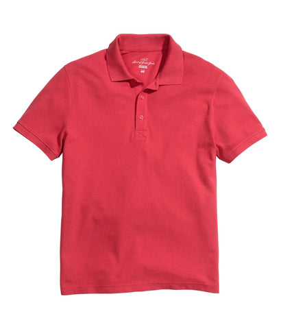 H&M 5848/1-Men Polo TShirt Slim Fit-Red-SHG