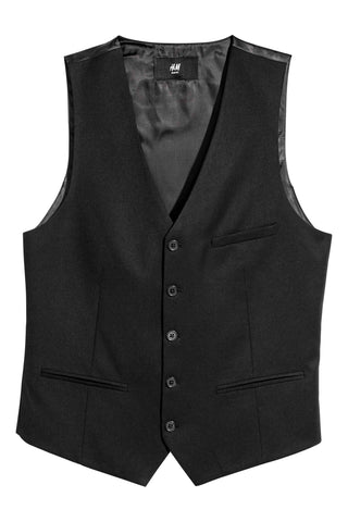 H&M Men 5555/1 Black Suit Vest/Waist Coat-GL