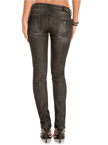 Guess Women Foxy Skinny Jeans Black Thunder Wash-GL/SHW/SHF