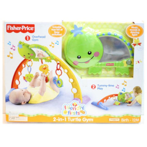 Fisher-Price Friendly First 2-in-1 Turtle Gym, 0+